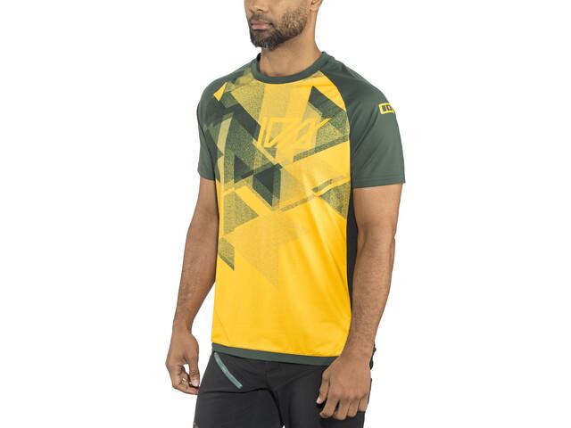 ION Traze AMP Bike Jersey Shortsleeve Men yellow/green